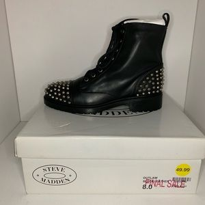 Steve Madden Spiked/Studded Boots